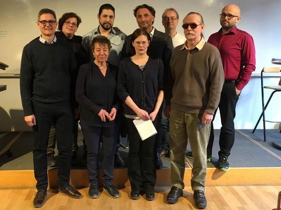 De närvarande från den nyvalda riksstyrelsen vid årsmötet 2016. Från vänster till höger: Pontus Böckman, Eva Daskalaki, Gunilla Burell, Adrian Lozano, Linda Strand Lundberg, Dan Katz, Peter Olausson, Kjell Strömberg & David Björnfot