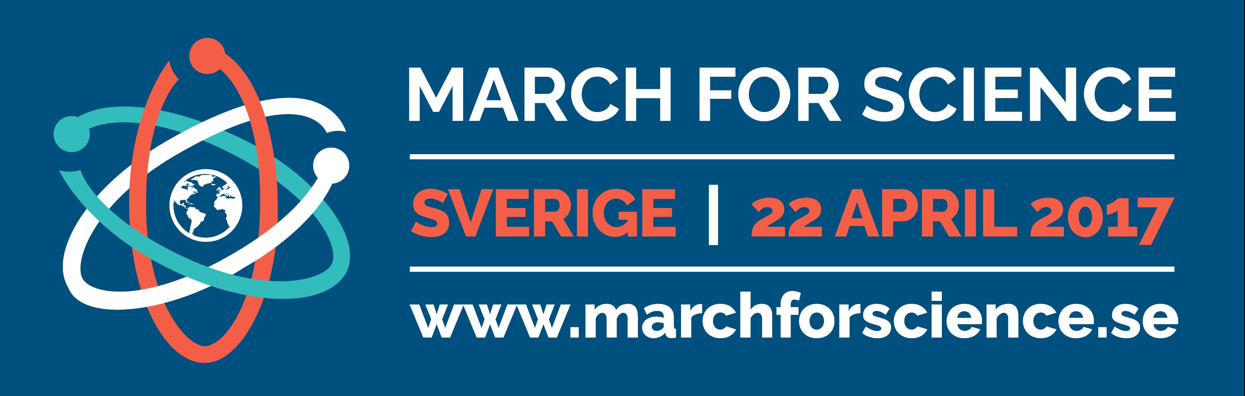 Banner för March for Science Sverige