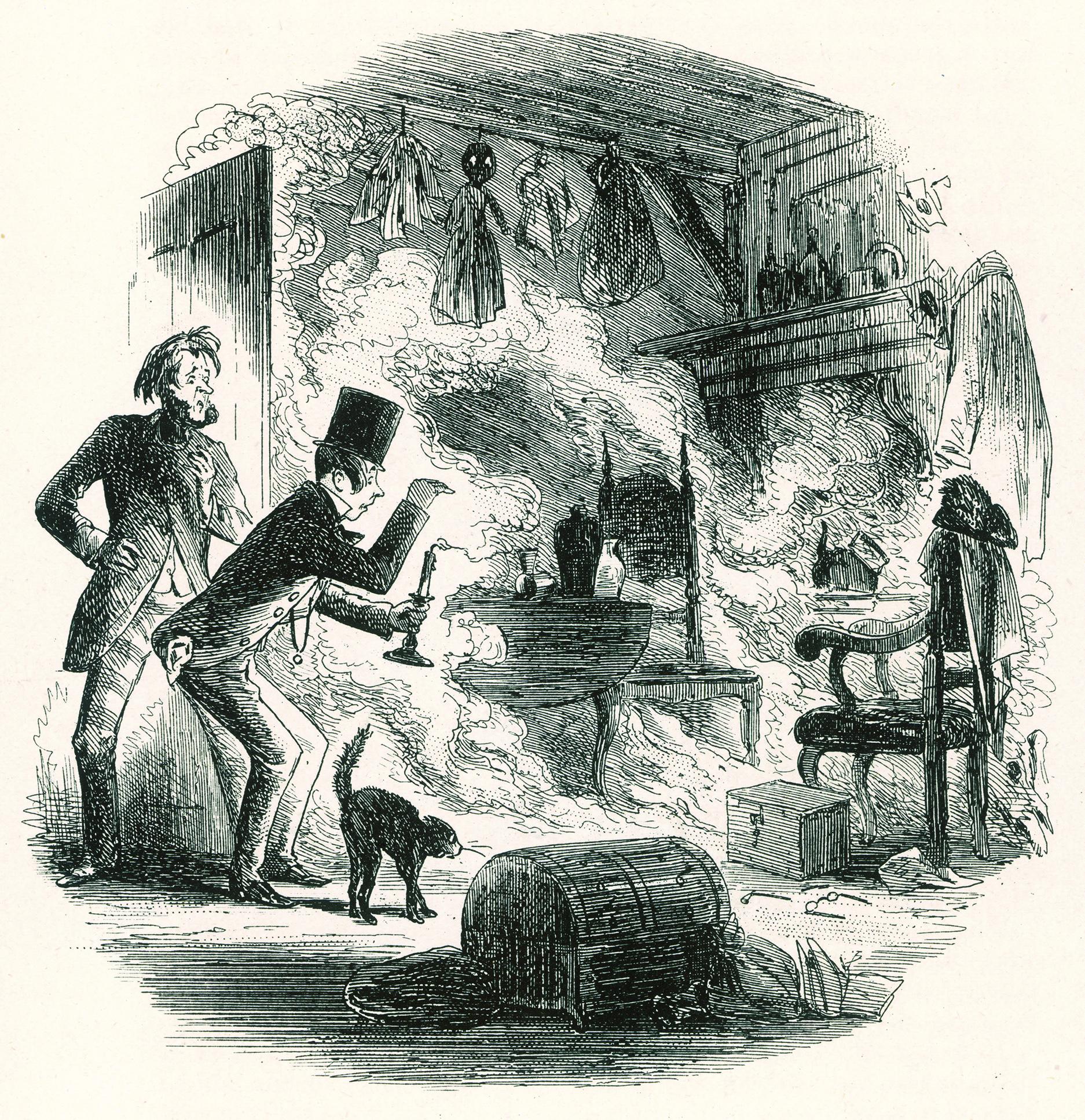 Illustration ur Bleak House av Charles Dickens