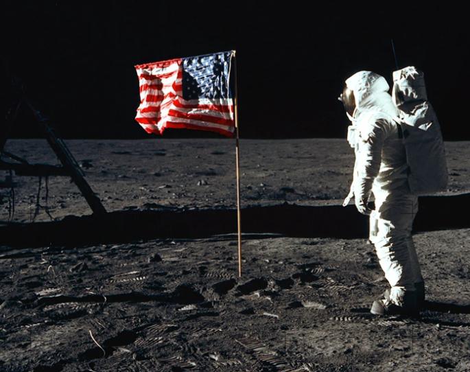 Buzz Aldrin på månen 1969