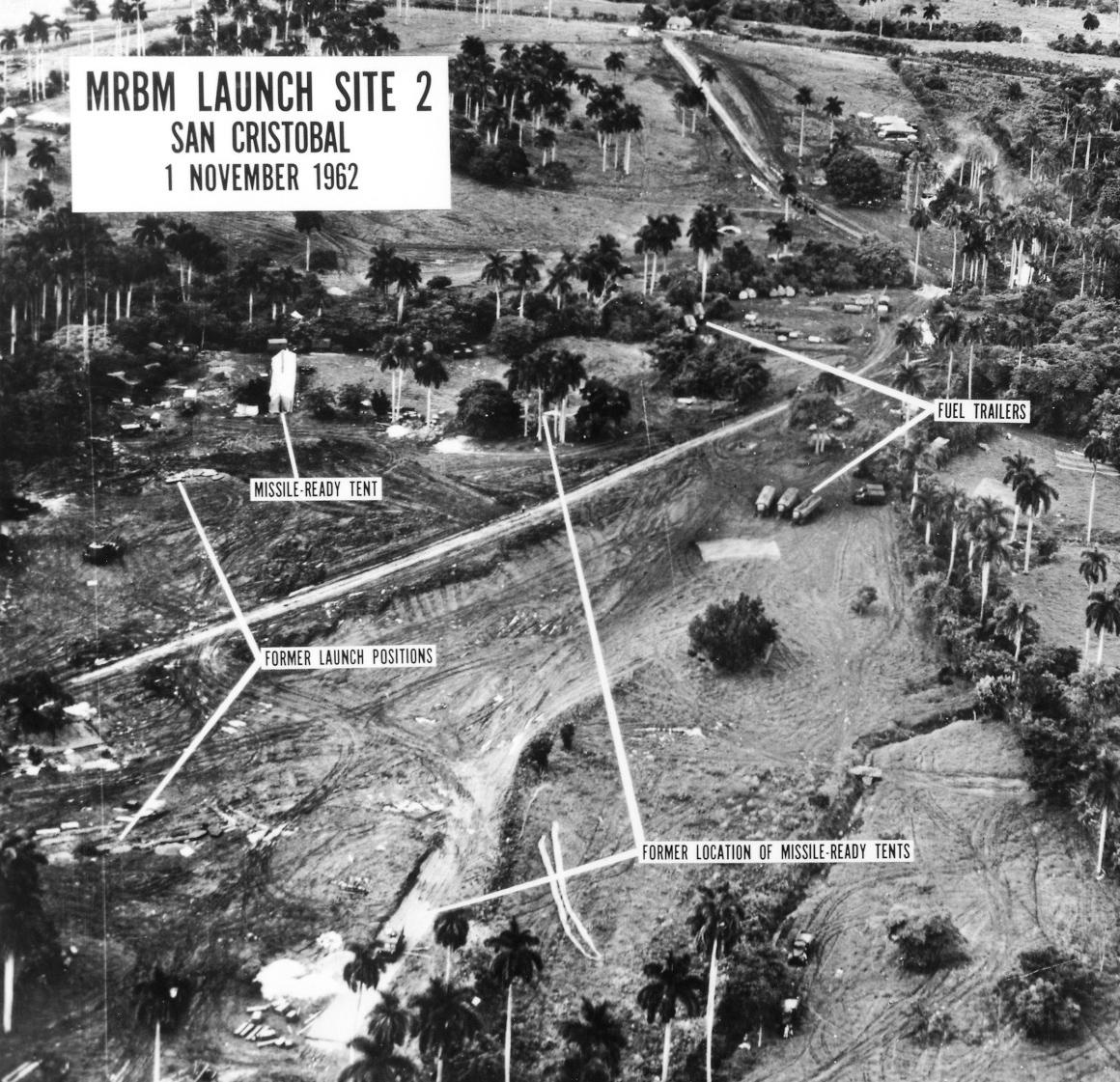 Spionfoto som visar avfyrningsramper på Kuba