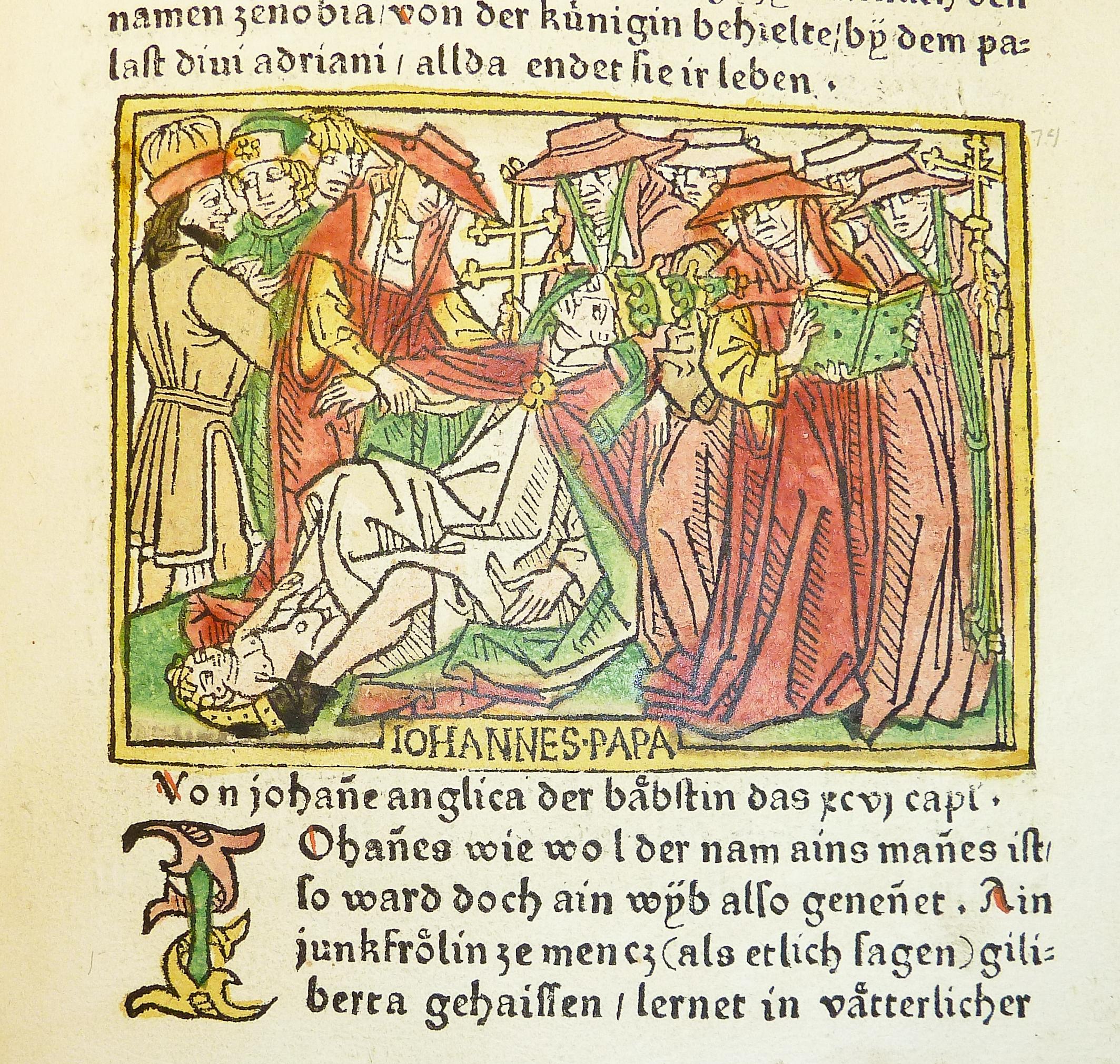 Påve Johanna föder barn